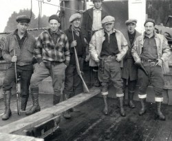 Idaho Inlet 1927 Left to Right: Grentz, Eriksen, Ejde, Pegler, Van Cleve, Chipman, Herrington